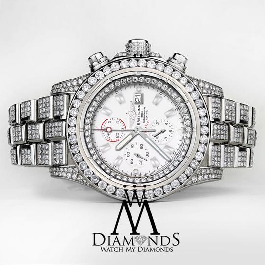 Breitling Diamond Breitling Super Avenger Watch White Index Dial Model A13370 Image 3