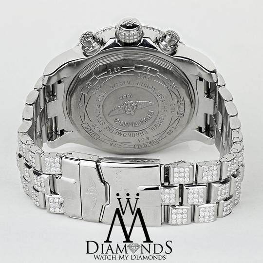 Breitling Diamond Breitling Super Avenger Watch White Index Dial Model A13370 Image 5