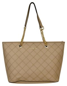 Michael Kors Modern Saffiano Tote in Bisque