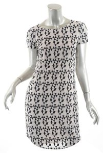 DKNY short dress Black & Ivory & Geometric Sheath on Tradesy