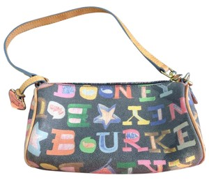 Dooney & Bourke Wristlet in Black, green, pink