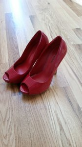 Call It Spring Patent High Heels Red Pumps