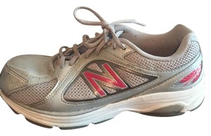 New Balance Gray/Pink Athletic