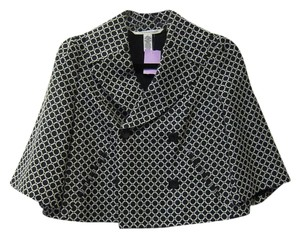 Diane von Furstenberg Geometric And White Black Jacket