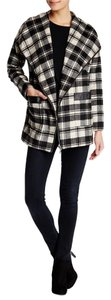 Lovers + Friends Fall Black White Plaid Jacket