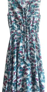 H&M short dress Blue, off-white, rasperry pink on Tradesy