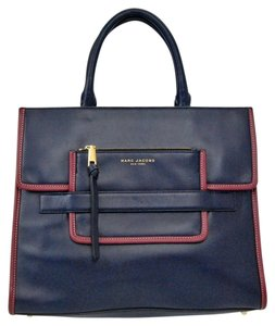 Marc Jacobs Leather Tote in Navy