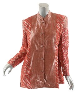 OBIKO Jacket Dressy Top Red & Gold Brocade