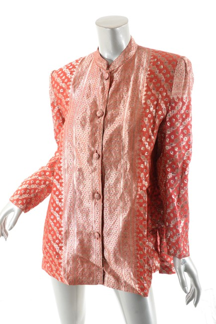 OBIKO Jacket Dressy Top Red & Gold Brocade Image 2