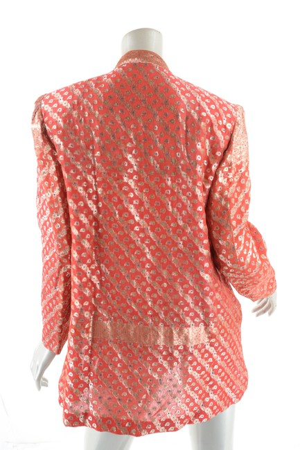 OBIKO Jacket Dressy Top Red & Gold Brocade Image 3