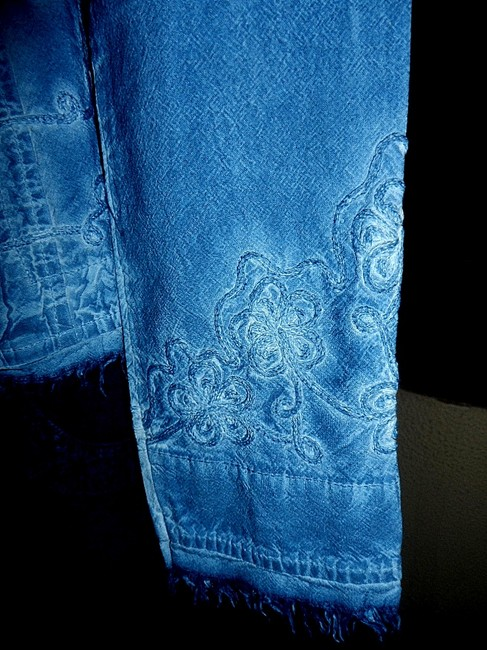 Lirome Bohemian Country Cottage Summer Spring Light Blue Womens Jean Jacket Image 3