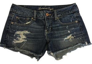 American Eagle Outfitters Distressed Cut Off Shorts Denim