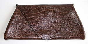Juliette Jake Embossed Brown Clutch