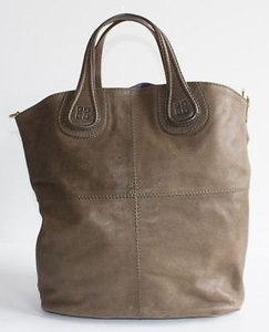 Givenchy Leather Lambskin Tote in Olive Green