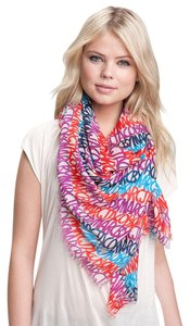Marc by Marc Jacobs MARC By MARC JACOBS Linear Multi Color Tapioca Logo Woven Scarf