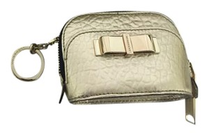 Burberry Burberry Gold coin purse with Key Ring Attachment