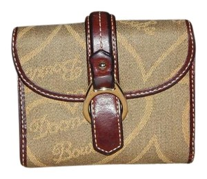 Dooney & Bourke Dooney Bourke Wallet Clutch Horsebit Hearts DB Brown Khaki Tan