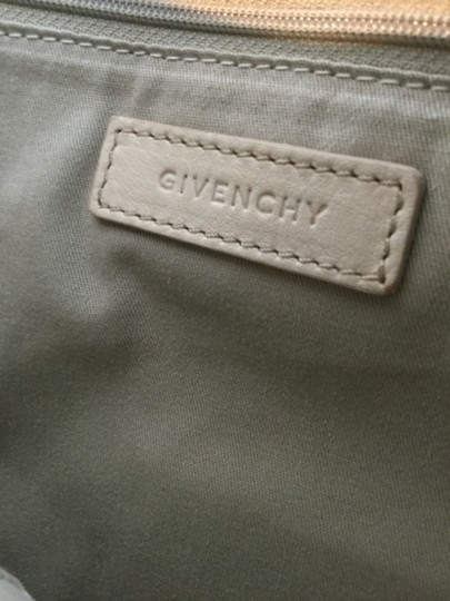 Givenchy Creme Sueded Embossed Leather Tote in Beige