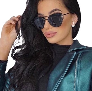 Other Cat Eye Aviator Black Sunglasses