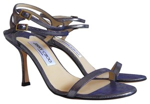 Jimmy Choo Sissy Ankle Strap Blue Sandals
