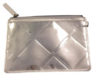 Burberry Silver Clutch