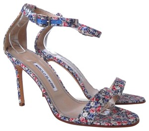 Manolo Blahnik Floral Chaos Multicolor Sandals