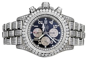 Breitling Men's Diamond Breitling Super Avenger Watch blue Index Dial A13370