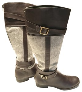 LC Lauren Conrad Brown and grey Boots