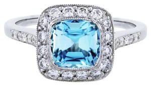 Tiffany & Co. Tiffany & Co. Legacy Platinum Aquamarine and Diamond Ring