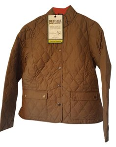 Eddie Bauer Quilted Down Olive Jacket
