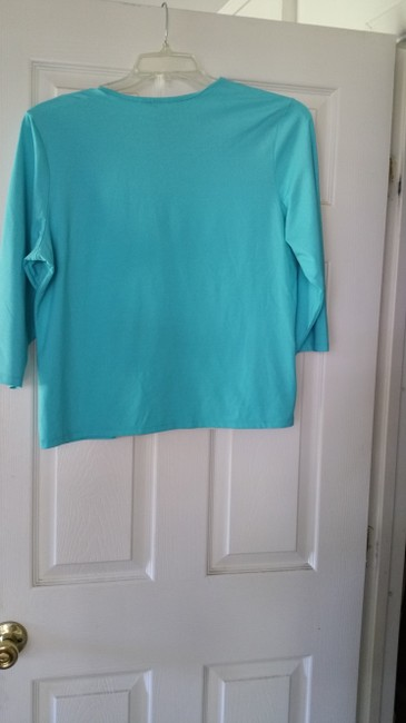 Other Top Turquoise and pattern on front