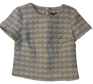 Express Shell Structured Top Black & White Tweed