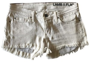 Lamb and Flag Cut Off Shorts Off white