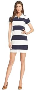 Tommy Hilfiger short dress Classic White & Navy striped Polo on Tradesy