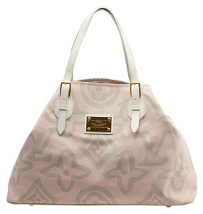 Louis Vuitton Lv Large Tahitienne Tote in Pink,Grey