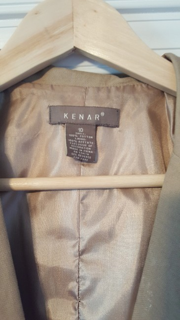 Kenar Cotton Beige with white trim Blazer Image 1