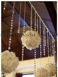 15 Feet Hanging Clear Faux Crystal Strands Glass Crystal Garlands Crystal Christmas Garland Manzanita Crystals Wishing