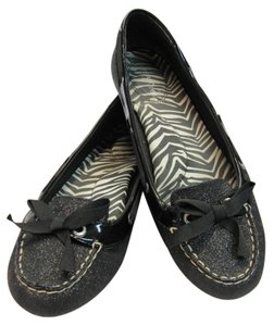 Sperry Size 8.00 M Sparkle Patent Black Flats