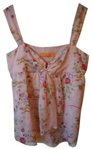 Cynthia Steffe Flora Silk Sleeveless Top pink