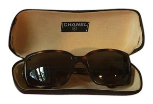 Chanel Vintage Chanel Brown Tortoise Sunglasses with Gold Hardware Logo