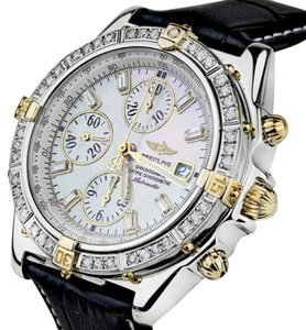 Breitling Diamond Breitling B13355 Windrider Evolution MOP Dial Leather Watch