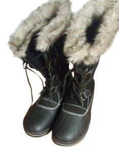 Other Suede Faux Fur Black Boots