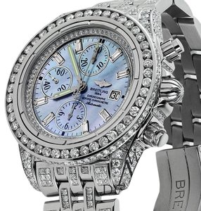 Breitling Breitling Evolution A13356 Blue MOP Dial 18ct Diamond Watch