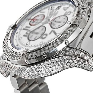 Breitling Mens Diamond Breitling Super Avenger White Dial A13370 Watch