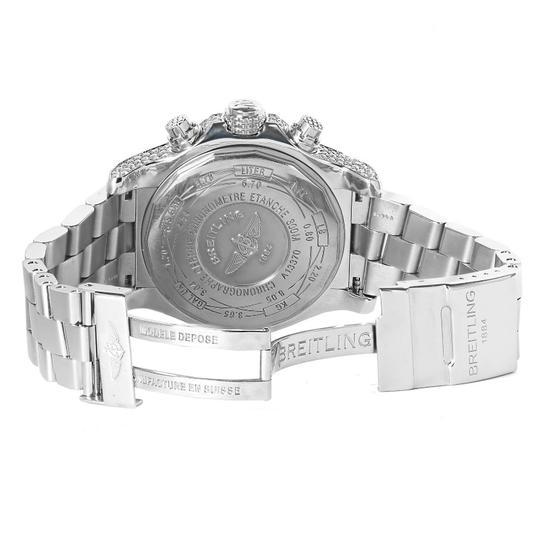 Breitling Mens Diamond Breitling Super Avenger White Dial A13370 Watch Image 4
