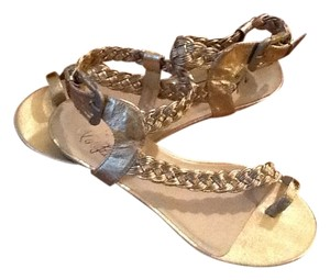 Very Volatile Pink Gold Sandals