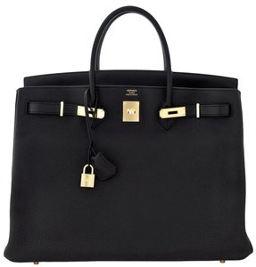Herms Hermes Birkin 40 Birkin Tote in Black