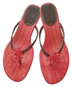Cole Haan Thong Chocolate Coral Sandals