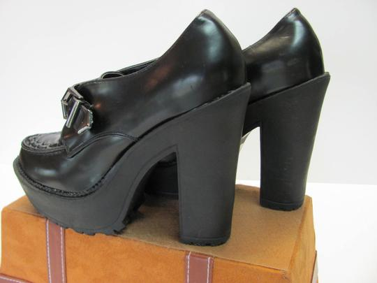 Forever 21 Size 9.00 Very Good Condition Black Platforms Image 4