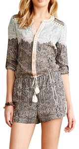 Anthropologie Silk Blend Romper Boho Dress